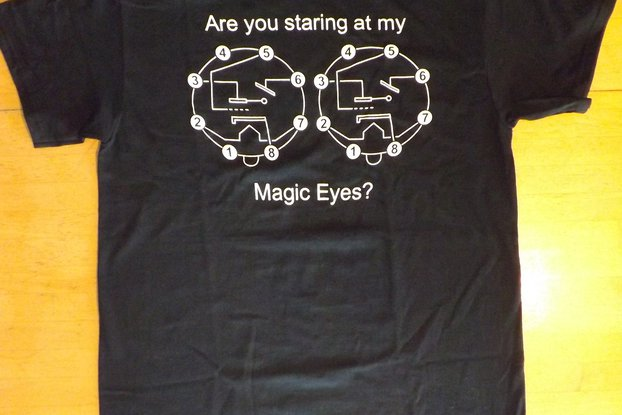 Magic Eye Vacuum Tube Black T-Shirt