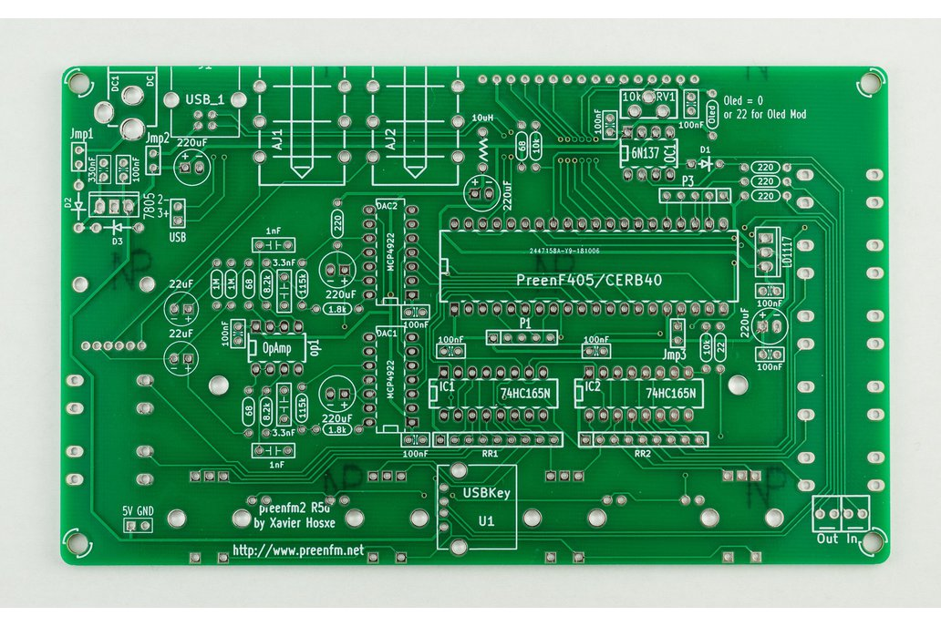 preenFM2 FM Synthesizer PCB + F405 MCU Board 1