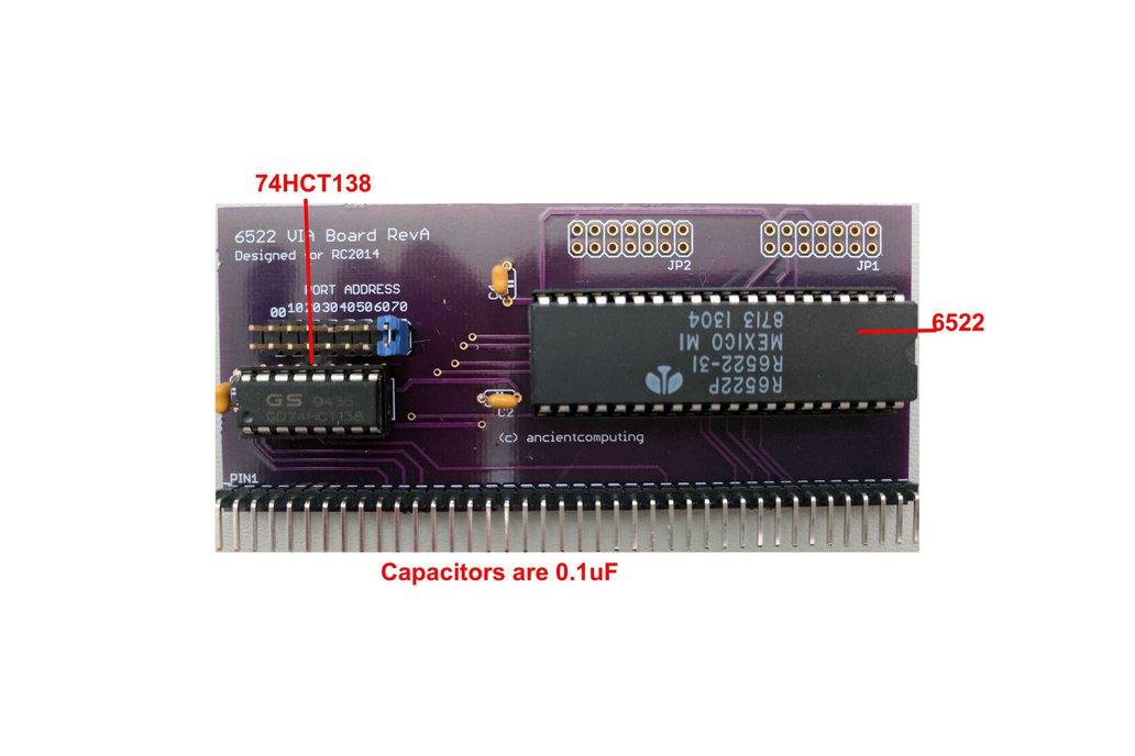 6522 VIA Board for RC2014 3