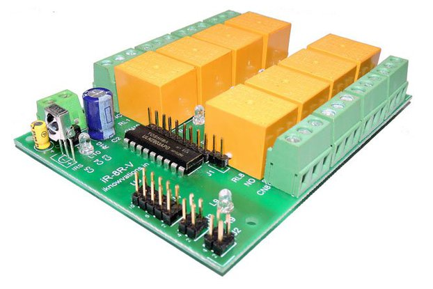 8 ch Programmable IR remote relay card