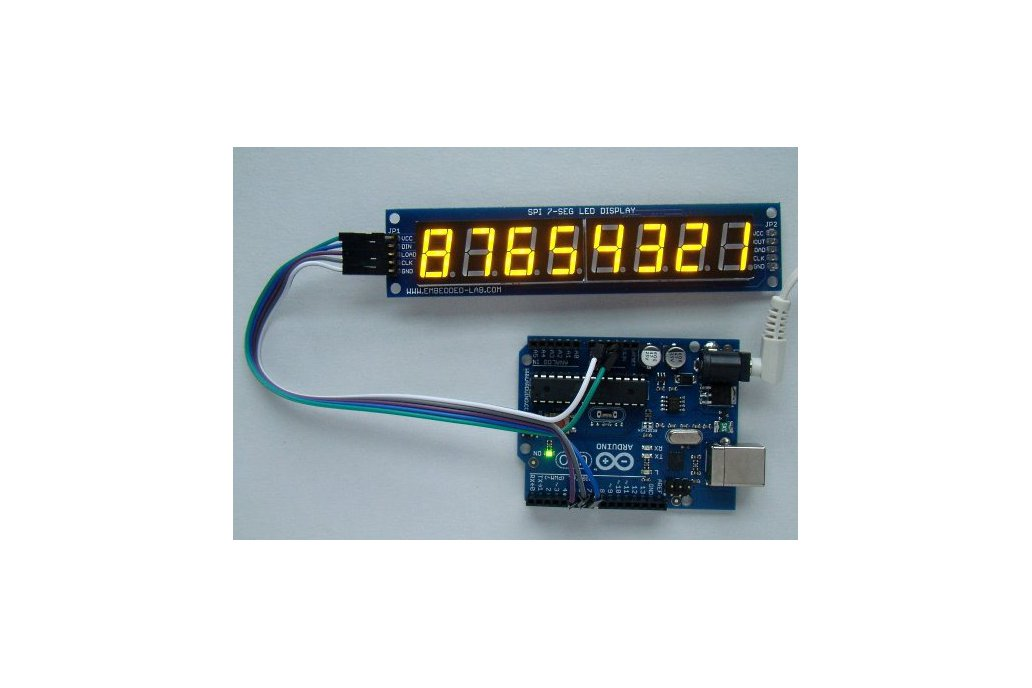 Serial 8-digit 7-segment LED display (Red) 2