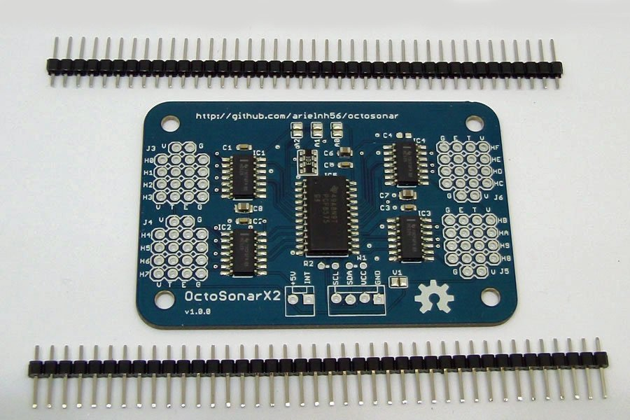OctosonarX2 - connect 16 x HC-SR04 to Arduino