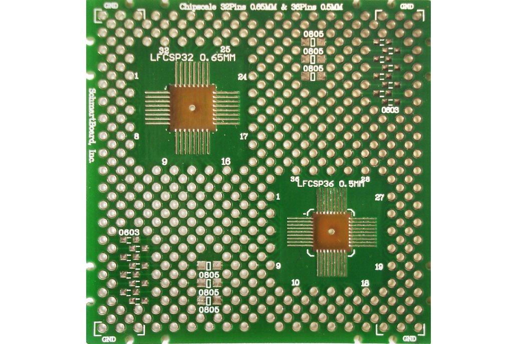 SchmartBoard|ez QFN 36 Pins .5mm & 32 Pins .65mm 1