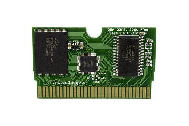GBA 32MB, 256Kbit FRAM Save, Flash Cart