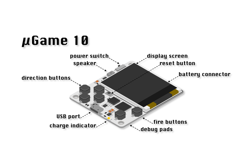µGame 10 game console kit 3