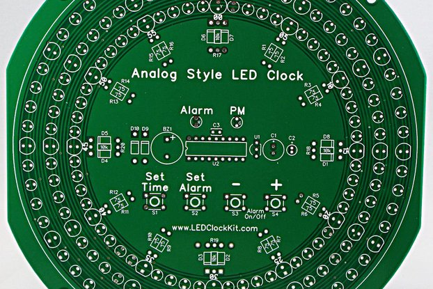 Analog Style LED Clock Parts