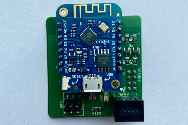 Itho CVE RFT ESP8266 based Wifi to I2C add-on