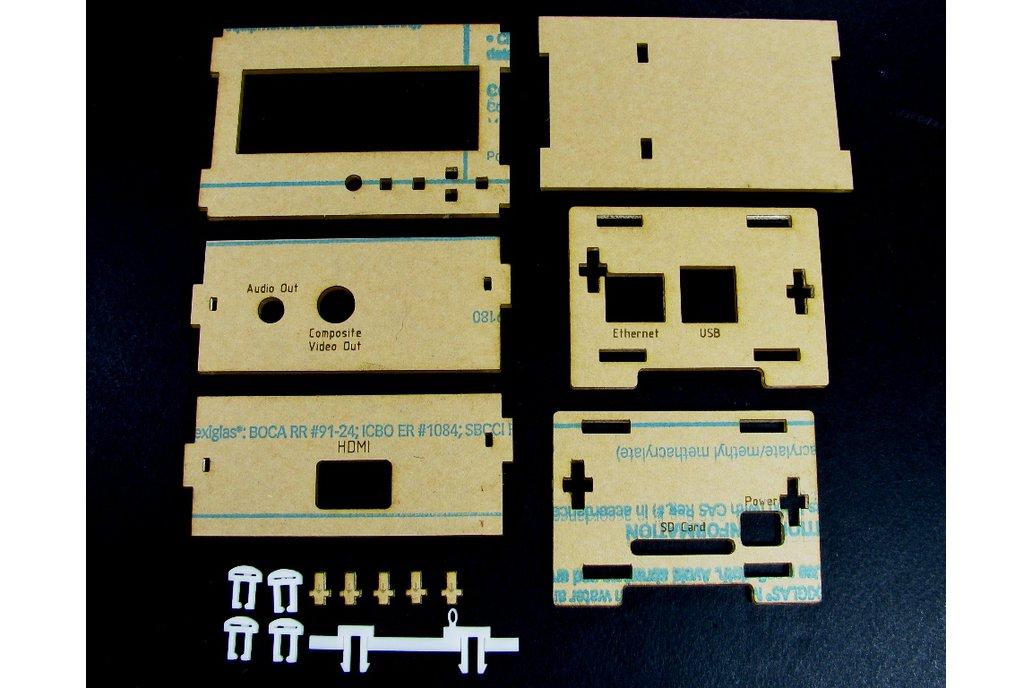 RPi Adafruit LCD + Keypad Plate Enclosure - Black
