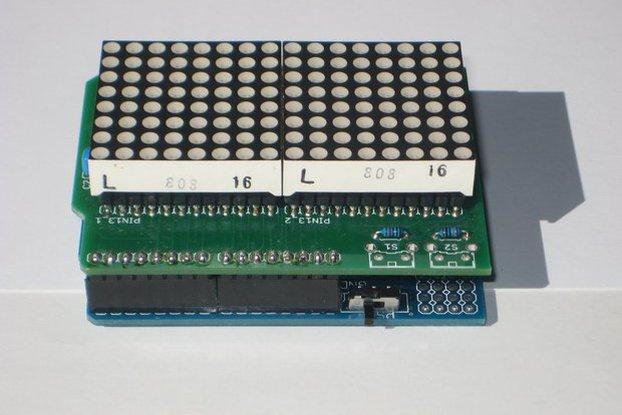 Dual Tri-color LED matrix shield for Arduino