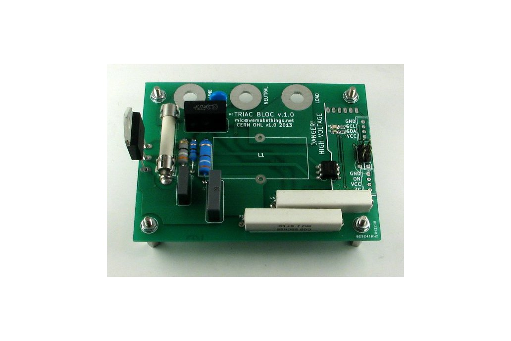TRIAC BLOC - I2C Mains voltage controller 1