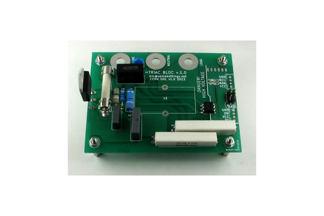 TRIAC BLOC - I2C Mains voltage controller 1