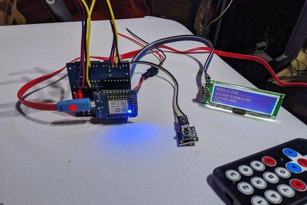 CNC Mini Board with IR Remote, 192x64 LCD.