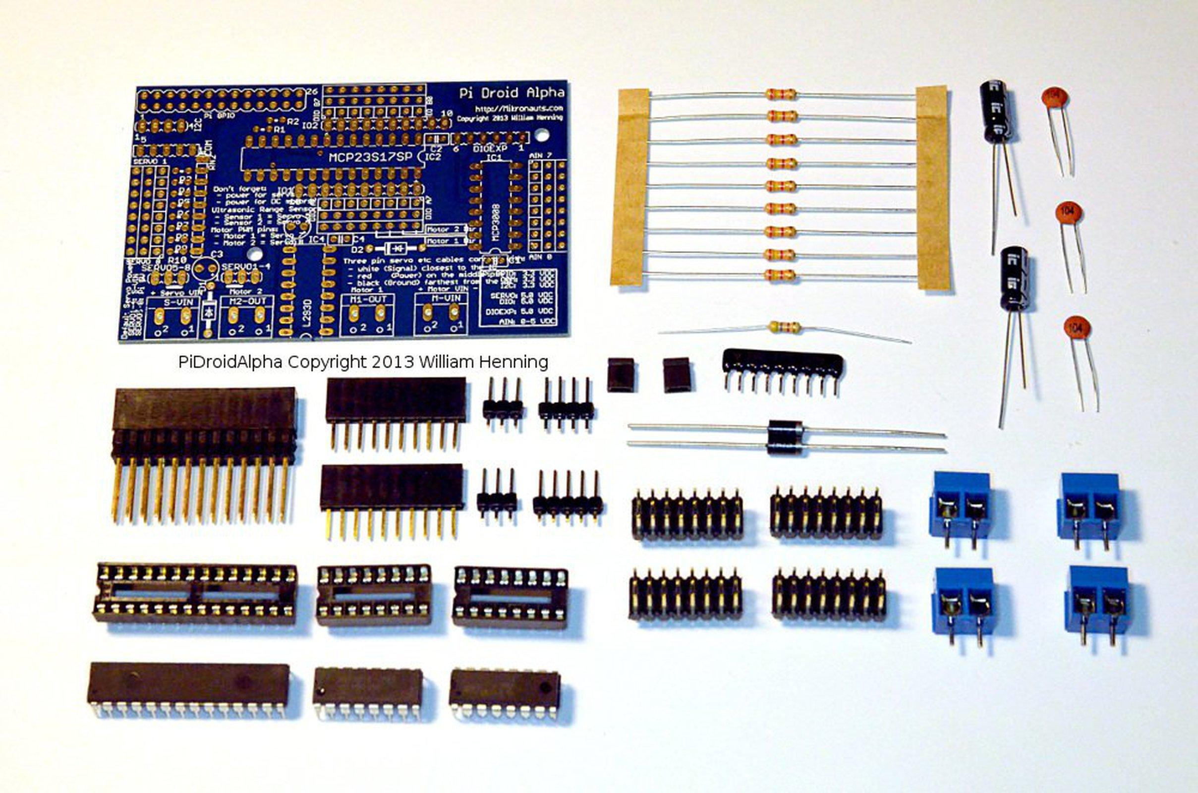 Pidroidalpha Educational Controller 4 Raspberry Pi From Mikronauts Wiringpi Servo 2