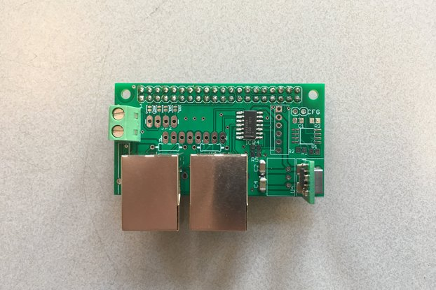 RS485 HAT (daisy-chain, bus powered) Raspberry Pi
