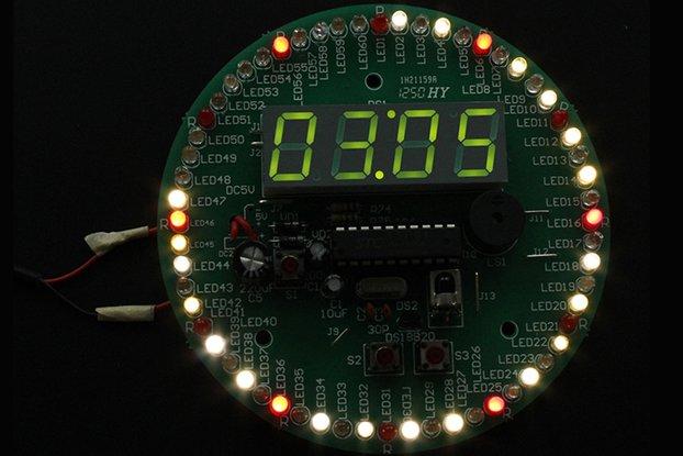 4 Digit 60S Rotary Electronic Clock DIY Kit