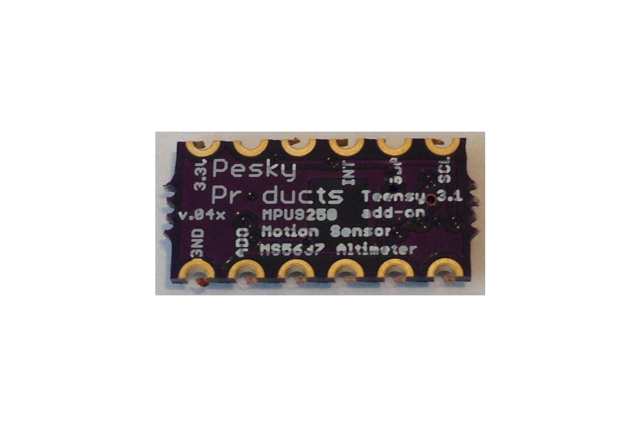 MPU9250 Teensy 3.X add-on shields