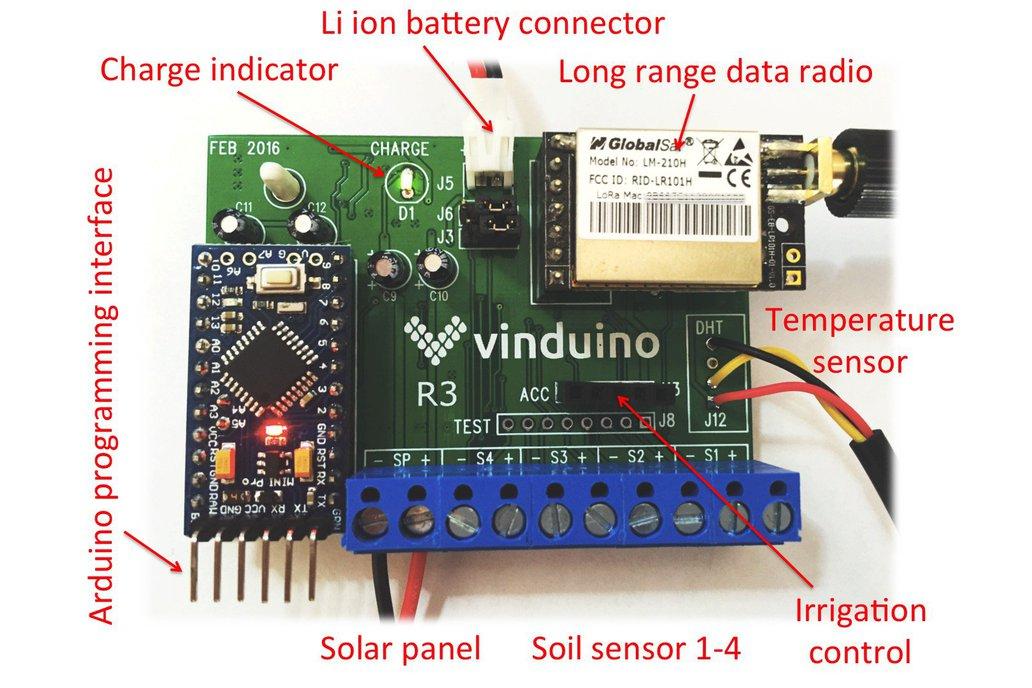 Vinduino remote sensor station board 4