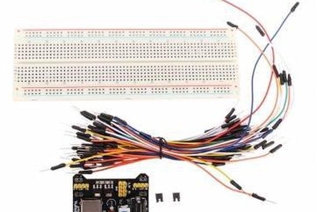 Breadboard + Power Supply + Jumper Wires