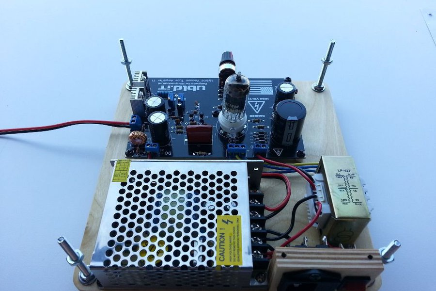 Hybrid Vacuum Tube Audio Amplifier