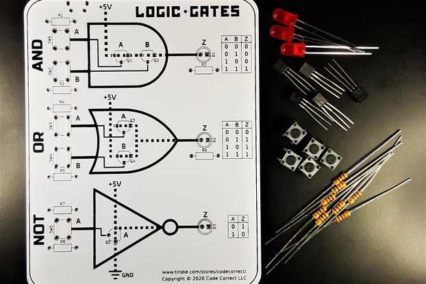 Basic Logic Gates using Transistors - Learning Kit