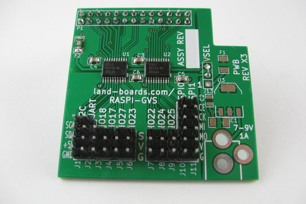 5V I/O Card for the Raspberry Pi (RasPi-GVS)