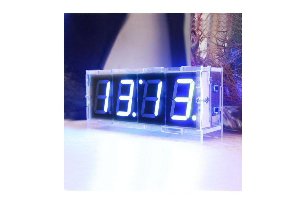 DIY 4 Digit LED Electronic Clock Kit Large Screen  8