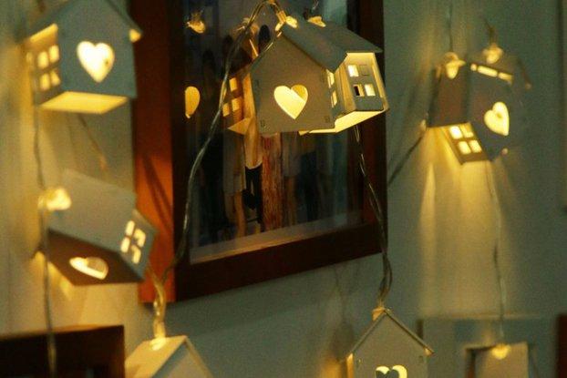 LED Novelty Wood House