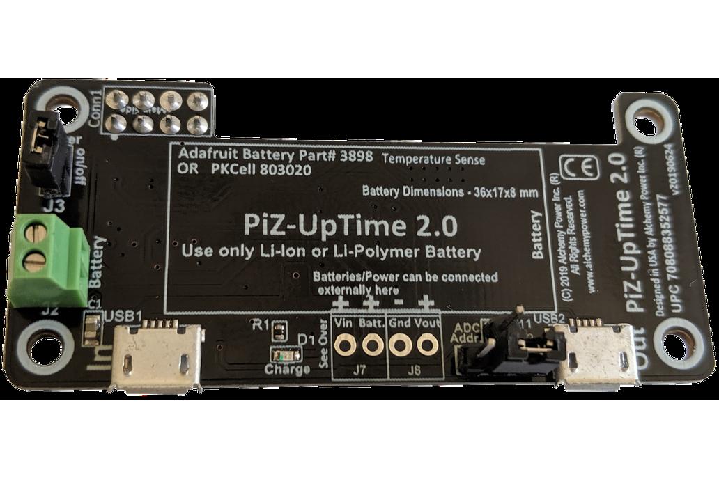 Pi-Zero-UpTime 2.0: UPS for Pi in Pi-Zero size. 1