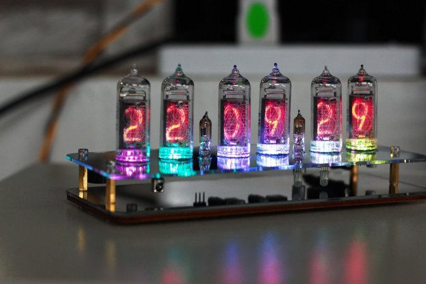 NIXT CLOCK - IN14 NIXIE TUBE CLOCK With GPS Temp