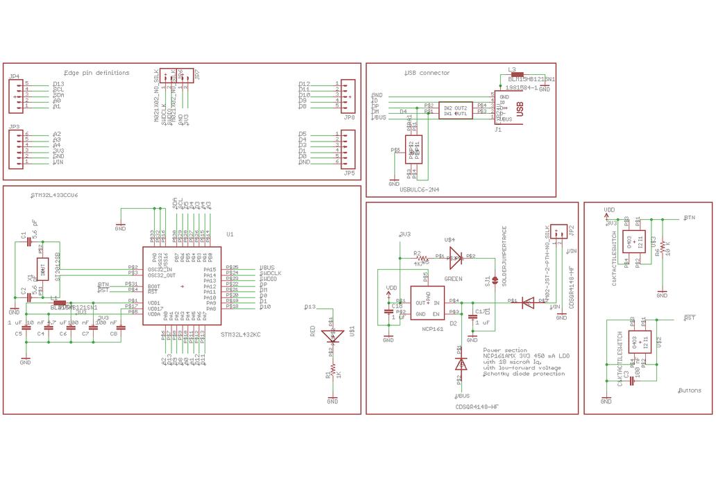 Ladybug STM32L432 Development Board 9