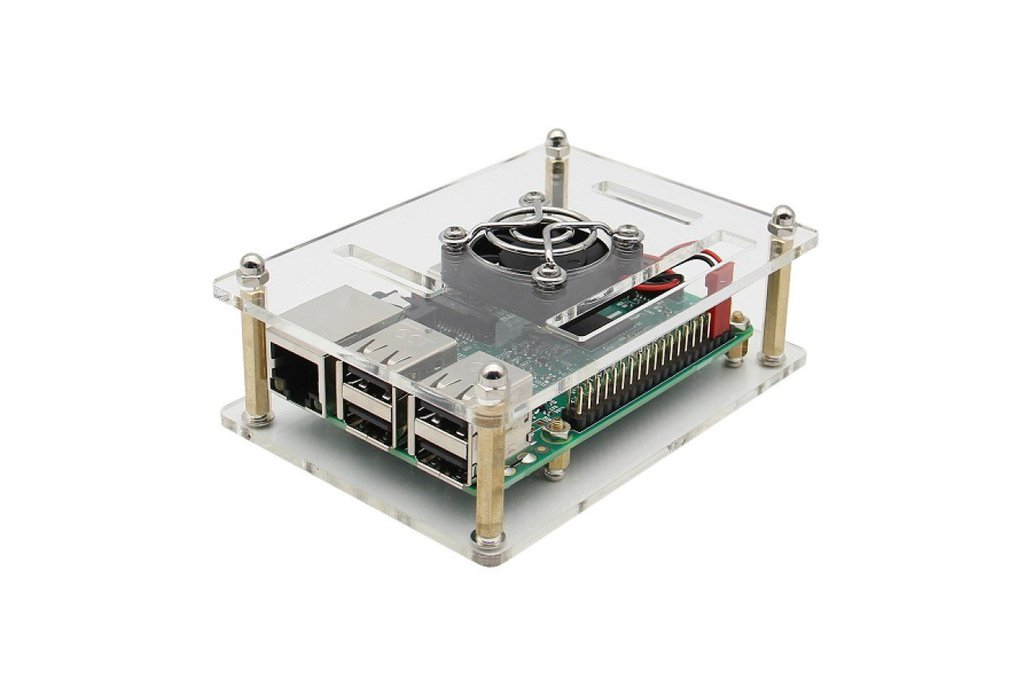 3 In 1 Raspberry Pi 3 Model B + Acrylic Case + Fan 1