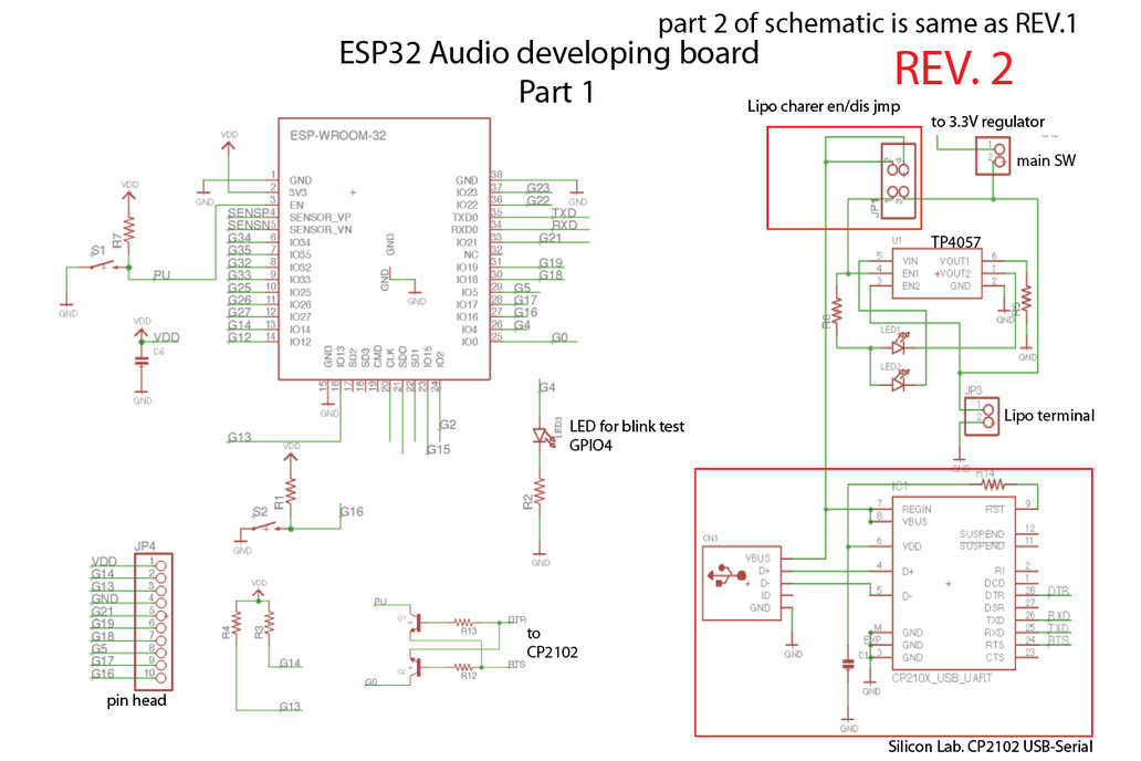 ESP32 Audio developing board (ESP32-ADB) 7
