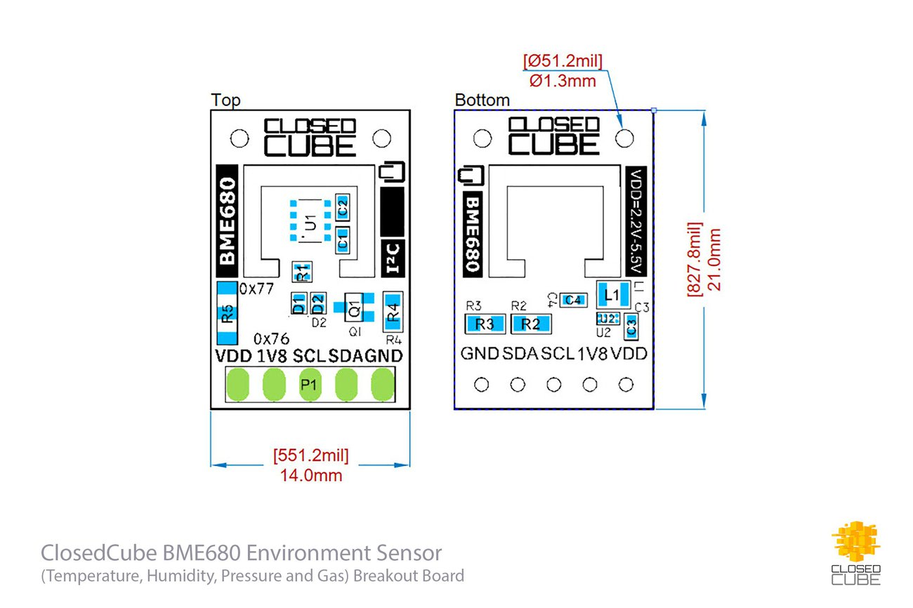 BME680 Environment Sensor with Ultra Low 1.8V Out