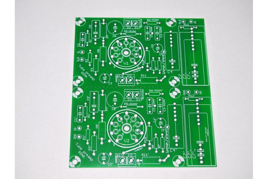 PCB Tube Phono Preamplifier RIAA ECC88, 81, 82, 83 1