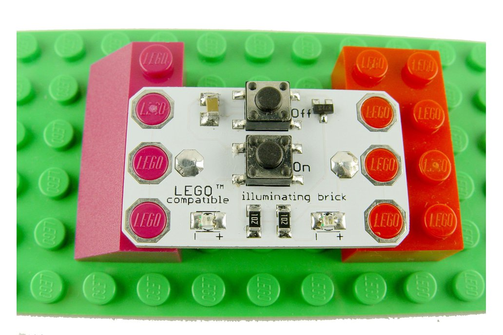 Illuminating LED brick 5x3, learn to solder KIT 1