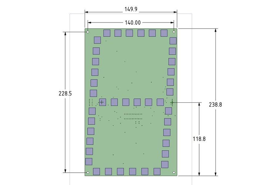 "Large 7 Segment (10""-250mm) Display PCB"