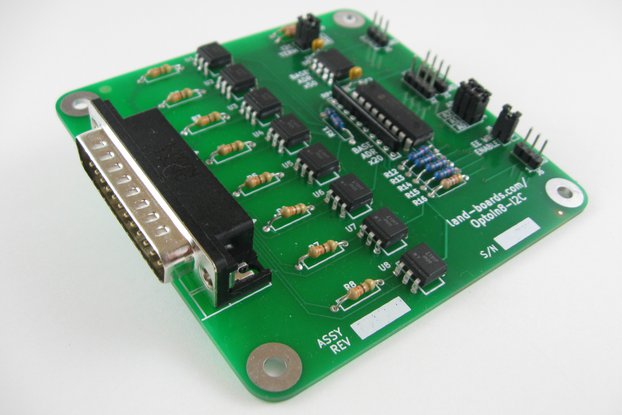 Eight optically-isolated inputs card (OptoIn8-I2C)