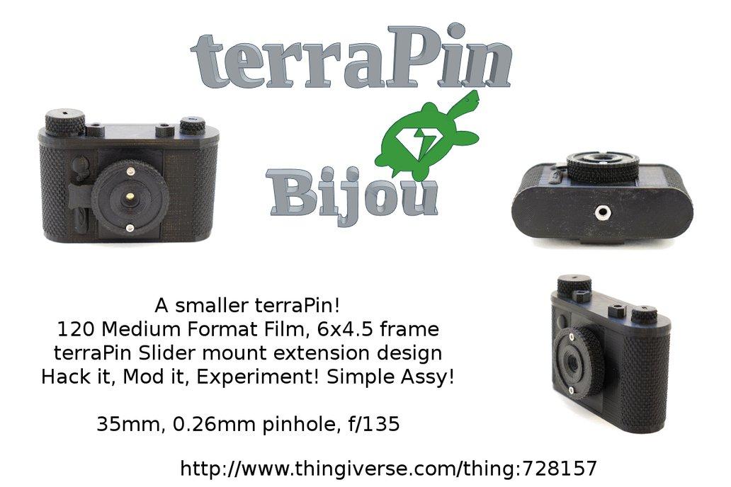 "terraPin 3Dprinted Pinhole Camera -""Bijou"" 6 X 4.5 1"