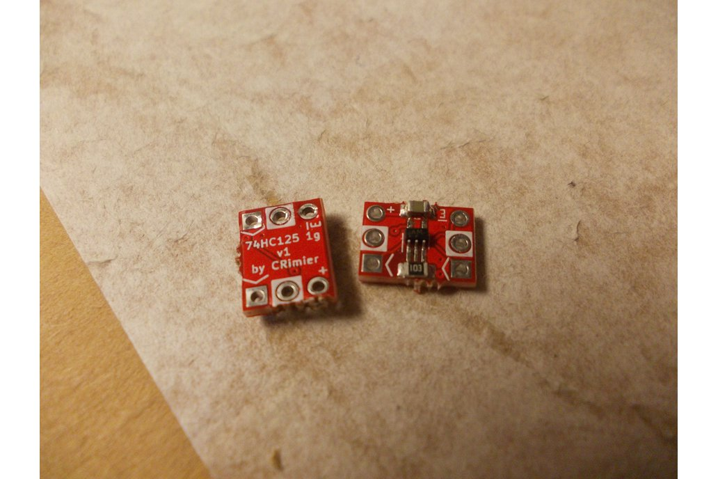 74HC125 single-gate buffer DIP6 breakout 1