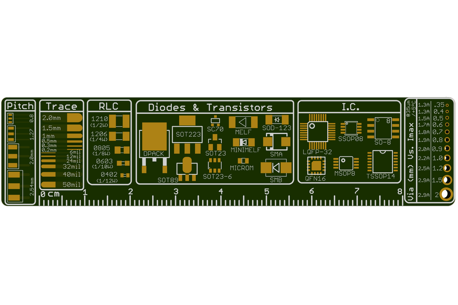 The Ultimate PCB ruler