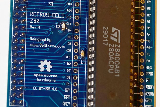RetroShield Z80 for Arduino Mega