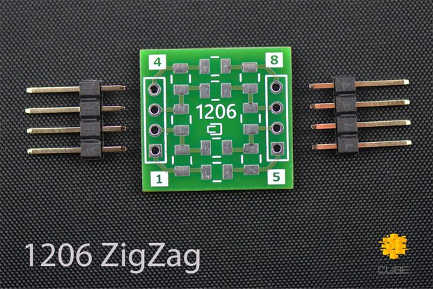 ClosedCube SMD 1206/0805 ZigZag Double-Sided PCB