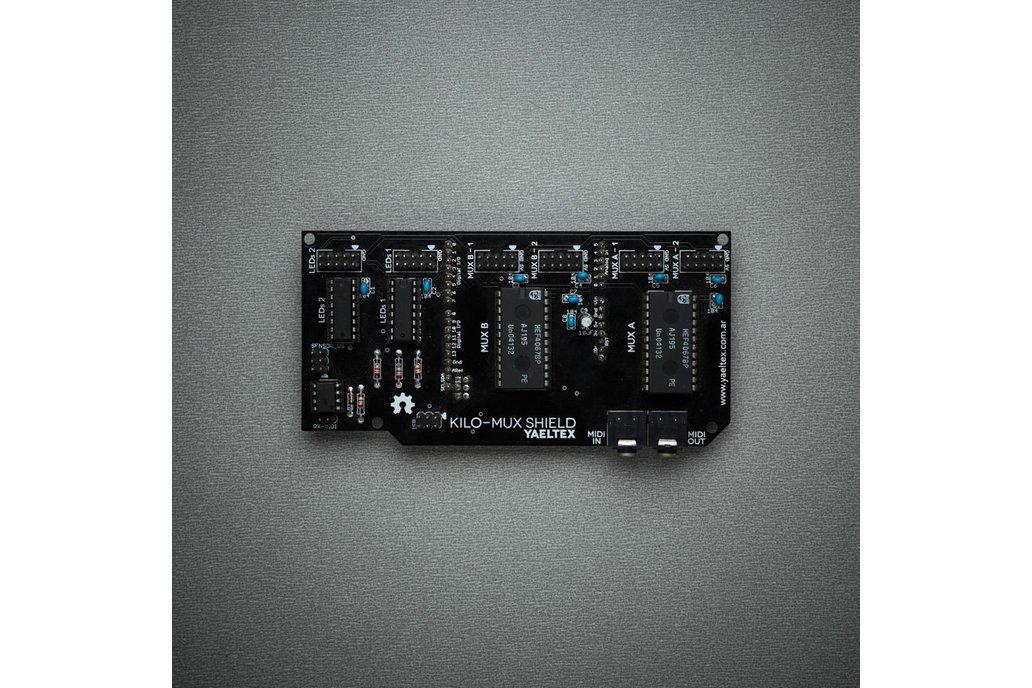 Kilomux MIDI and I/O expansion shield for Arduino 1