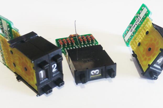 DIY Resistance Decade Thumbwheel Resistor Adapters