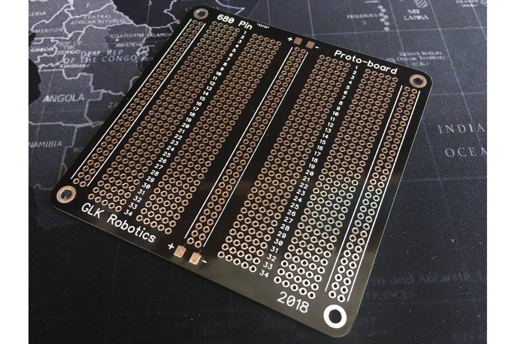 680-Pin, 136-Row Protoboard, HASL Finish 1
