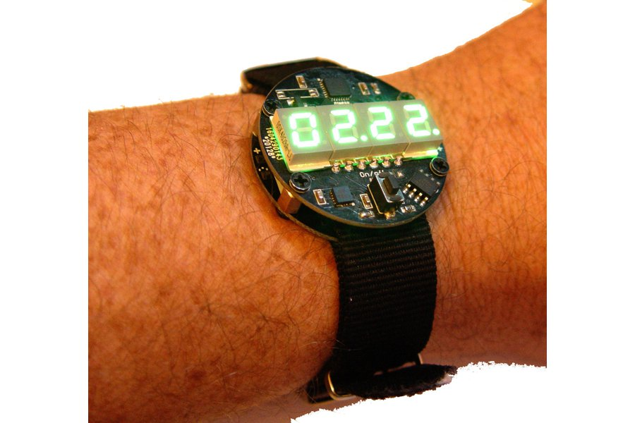 Motion activated LED watch