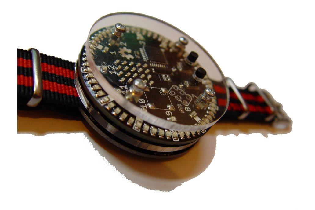 92 led charlieplexed ring circle watch, matrix 1