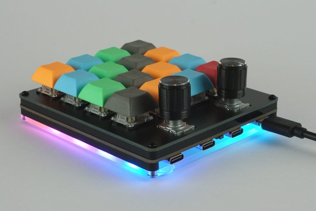 Hub16 - Programmable Macro Keyboard