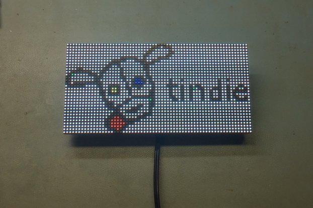 64x32 RGB Led Matrix ESP8266 Driver Board