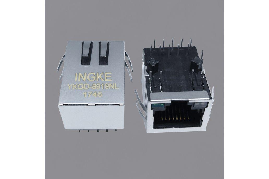 SI-61031-F 1 Port Magnetic RJ45 jacks 1